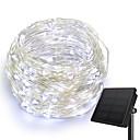 preiswerte Fitness Accessoires-KWB 10m Leuchtgirlanden 100 LEDs 1Set Montagehalterung Warmes Weiß / Weiß / Blau Solar / Kreativ / Wasserfest Solarbetrieben 1set