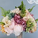 preiswerte Künstliche Blumen-Künstliche Blumen 1 Ast Einzelbett(150 x 200 cm) Hochzeit Hochzeitsblumen Rosen Hortensie Lila Tisch-Blumen