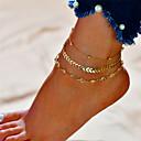 povoljno Kratka čarapa-Slojevito Kratka čarapa - Alphabet Shape Moda, Više slojeva Zlato / Pink Za Dar Dnevno Žene