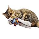 Недорогие Игрушки для кошек-Кошачья приманка / Плюшевые игрушки / Игрушки с писком Подходит для домашних животных / Животные / Скрип Фланель / Плюш Назначение Коты /