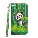 hesapli iPhone Kılıfları-Pouzdro Uyumluluk Apple iPhone X / iPhone 8 Plus Cüzdan / Kart Tutucu / Satandlı Tam Kaplama Kılıf Panda Sert PU Deri için iPhone X / iPhone 8 Plus / iPhone 8
