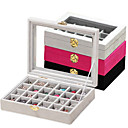 hesapli Saklama ve Organizasyon-Karbon fiber Oval Kapaklı Ev organizasyon, 1pc Pudełka na biżuterię