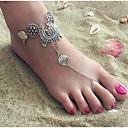 رخيصةأون وسائد-نسائي Barfotsandaler مجوهرات القدمين قطرة وردة رخيص سيدات بسيط عتيق خلخال مجوهرات فضي من أجل مناسب للحفلات هدية