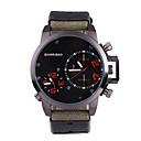 Недорогие Мужские часы-SHI WEI BAO Муж. Спортивные часы Армейские часы Японский Кварцевый С двумя часовыми поясами Материал Группа Аналоговый На каждый день Мода Черный / Тёмно-зелёный - Черный Темно-зеленый / Один год