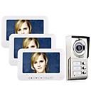 رخيصةأون ألعاب السيارات-MOUNTAINONE 3 Apartments  Video Door Phone كابل 7 بوصة حر اليدين 480*234 بكسل واحد إلى اثنين Doorphone الفيديو