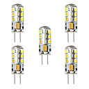 tanie Żarówki filament LED-BRELONG® 5pcs 3 W 250 lm G4 Żarówki LED kukurydza / Żarówki LED bi-pin T 24 Koraliki LED SMD 2835 Dekoracyjna Ciepła biel / Biały 12 V
