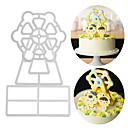 hesapli Fırın Araçları ve Gereçleri-Bakeware araçları Aluminyum Yeni gelen / 3D / Kendin-Yap Pasta / Parti / Doğum Dünü Pasta Kalıpları 3adet