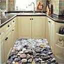 hesapli Dekorasyon Etiketleri-Döşeme Etiketler - 3D Duvar Çıkartması Manzara Oturma Odası / Yatakodası / Banyo