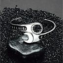 billige Armbånd-Herre Stilfuldt 3D Manchetarmbånd Bred Bangle Rustfrit stål Kreativ Bogstaver Erklæring Europæisk Trendy Armbånd Smykker Sølv Til Gade Bar