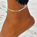hesapli Yastıklar-Yoga Ayak bileziği Ayak bileği bilezik - Dalga Eşsiz Tasarım, Bohem, Moda Altın / Gümüş Uyumluluk Tatil Dışarı Çıkma Kadın's