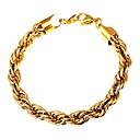 billiga Armband-U7 1st Rostfritt stål Utomhus för Guld Svart Silver / Herr / Armband