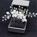 ieftine Bijuterii de Păr-Pentru femei Floral În Cruce Simplu Stil Floral Nuntă,Material Textil Aliaj-Cristal / Piepteni de Păr