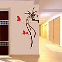 hesapli Köpek Giyim ve Aksesuarları-Dekoratif Duvar Çıkartmaları - 3D Duvar Çıkartması Romantizm / Botanik / Çiçek / Botanik Oturma Odası / Erkekler odası / Koridor