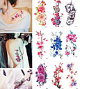 cheap Temporary Tattoos-9 pcs Tattoo Stickers Temporary Tattoos Flower Water Resistant / Water Proof Body Arts Body / Arm