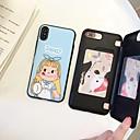 رخيصةأون أغطية أيفون-غطاء من أجل Apple iPhone X / iPhone 8 Plus / iPhone 8 حامل البطاقات / قلب غطاء خلفي كارتون قاسي TPU
