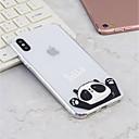 olcso iPhone tokok-Case Kompatibilitás Apple iPhone X / iPhone 8 Plus Minta Fekete tok Panda Puha TPU mert iPhone X / iPhone 8 Plus / iPhone 8