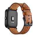 رخيصةأون أساور ساعات هواتف Xiaomi-حزام إلى Huami Amazfit Bip Younth Watch Xiaomi بكلة عصرية جلد طبيعي شريط المعصم