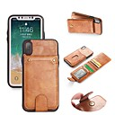 cheap iPhone Cases-Case For Apple iPhone X / iPhone 8 Wallet / Card Holder / with Stand Full Body Cases Solid Colored Hard PU Leather for iPhone X / iPhone 8 Plus / iPhone 8