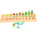 hesapli Dekorasyon Etiketleri-Montessori Eğitim Araçları / Ahşap Yapbozlar Eğitim Ahşap 1 pcs Çocuklar için Genç Erkek Hediye