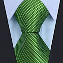 رخيصةأون ربطات عنق-ربطة العنق لون سادة / مخطط / خملة الجاكوارد رجالي عمل / أساسي