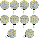 abordables LED à Double Broches-10pcs 2w g4 led ampoule bi-broche ronde 15 smd 5730 dc / ac 12 - 24v blanc chaud / froid