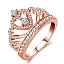 preiswerte Backzubehör & Geräte-Damen Stilvoll Ring - Rose Gold überzogen, Diamantimitate Krone Klassisch, Romantisch, Modisch 5 / 6 / 7 / 8 / 9 Rotgold Für Party Verabredung