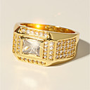 preiswerte Ringe-Herrn Klassisch Stilvoll Ring - Diamantimitate Kostbar Luxus, Klassisch, Modisch 7 / 8 / 9 / 10 / 11 Gold Für Party Verabredung