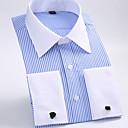 economico Camicie da uomo-Camicia Per uomo Ufficio Lavoro / Essenziale A strisce Colletto classico Viola XXXXL / Manica lunga
