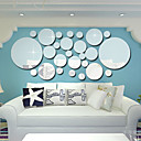 cheap Decoration Stickers-Decorative Wall Stickers - Mirror Wall Stickers Shapes Living Room / Bedroom / Bathroom