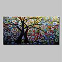 お買い得  マウス-ハング塗装油絵 手描きの - 抽象画 花柄 / 植物の クラシック 近代の インナーフレームなし / ローリングキャンバス