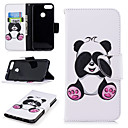 cheap Cases / Covers for Huawei-Case For Huawei Huawei P smart Wallet / Card Holder / with Stand Full Body Cases Panda Hard PU Leather for Huawei P smart