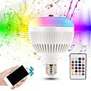 preiswerte Fitness Accessoires-KWB 1pc 12 W 1200 lm E26 / E27 Smart LED Glühlampen G95 28 LED-Perlen SMD Smart / Bluetooth / Abblendbar RGBW 100-240 V