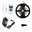 cheap LED Strip Lights-HKV 5m Flexible LED Light Strips / Light Sets 300 LEDs 3528 SMD 1 11Keys Remote Controller / 1 x 2A power adapter Warm White / Cold White / Red Cuttable / Linkable / Self-adhesive 100-240 V