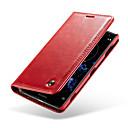 رخيصةأون Sony أغطية / كفرات-غطاء من أجل Sony Xperia XZ2 محفظة / حامل البطاقات / مع حامل غطاء كامل للجسم لون سادة قاسي جلد أصلي