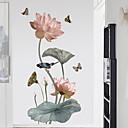 hesapli Duvar Sanatı-Dekoratif Duvar Çıkartmaları - Uçak Duvar Çıkartmaları Çiçek / Botanik Yatakodası
