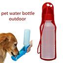 זול צעצועים לכלבים-0.03-0.05 L כלבים / חתולים קערות ובקבוקי מים חיות מחמד & קערות האכלה נייד / חוץ אדום / כחול / ורוד