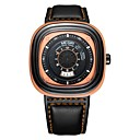 cheap Makeup & Nail Care-MEGIR Men's Sport Watch Japanese Quartz Leather Black 30 m Water Resistant / Waterproof Calendar / date / day Cool Analog Casual Fashion - Black Orange Blue
