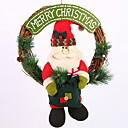 cheap Home Decoration-Garlands / Christmas Ornaments Holiday Wooden / Plastic Round Novelty Christmas Decoration