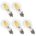 abordables Lampes à Filament LED-5pcs 6W 560lm E26 / E27 Ampoules à Filament LED A60(A19) 6 Perles LED LED Haute Puissance Décorative Blanc Chaud / Blanc Froid 220-240V