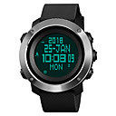 cheap Men's Watches-SKMEI Men's Sport Watch Military Watch Japanese Digital 50 m Water Resistant / Water Proof Alarm Calendar / date / day PU Band Digital Luxury Fashion Black / Green - Black Green One Year Battery Life