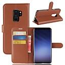 hesapli Galaxy S Serisi Kılıfları / Kapakları-Pouzdro Uyumluluk Samsung Galaxy S9 Plus / S9 Cüzdan / Kart Tutucu / Satandlı Tam Kaplama Kılıf Solid Sert PU Deri için S9 / S9 Plus / S8 Plus