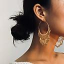 זול עגילים-בגדי ריקוד נשים סגנון וינטג' עגילי טיפה - נשים וינטאג' אתני אופנתי תכשיטים זהב עבור יומי פֶסטִיבָל זוג 1