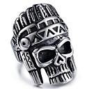 ieftine Becuri LED Corn-Bărbați Stil Vintage Sculptură Mexican Sugar Craniu Inel Oțel titan inox Craniu Declarație Stilat Vintage Inele la Modă Bijuterii Negru Pentru Stradă Club Costume Cosplay 8 / 9 / 10 / 11 / 12
