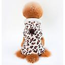 hesapli Köpek Giyim ve Aksesuarları-Köpekler / Kediler Paltolar Köpek Giyimi Leopar Kahverengi %100 Mercan Kumaş Kostüm Evcil hayvanlar için Unisex Günlük / Sade / Isınma