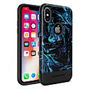 halpa iPhone kotelot-BENTOBEN Etui Käyttötarkoitus Apple iPhone X / iPhone XS Pinnoitus / IMD / Kuvio Takakuori Linjat / aallot / Hedelmä Kova TPU / PC varten iPhone XS / iPhone X
