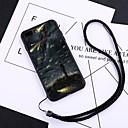 رخيصةأون أغطية أيفون-غطاء من أجل Apple iPhone X / iPhone 8 Plus / iPhone 8 ضد الغبار غطاء خلفي كارتون قاسي زجاج مقوى