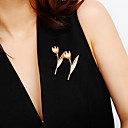 preiswerte Haarschmuck-Damen Klassisch Broschen - Blume Einfach, Klassisch, Elegant Brosche Gold / Silber Für Hochzeit / Verlobung / Party