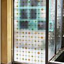رخيصةأون تزيين المنزل-فيلم نافذة وملصقات زخرفة العادي هندسي PVC ملصق النافذة