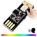お買い得  LED アイデアライト-brelong ledカラフルなled USBボイスコントロールライト1個