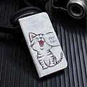 preiswerte Headsets und Kopfhörer-Hülle Für Xiaomi Redmi 6 Geldbeutel / Kreditkartenfächer / mit Halterung Ganzkörper-Gehäuse Katze Hart PU-Leder für Redmi 6A / Redmi 6